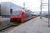 22 February 2014 :: In more traditional livery, Swiss built Class EL18, 18 2254 arrives into Oslo with the 0823 from Trondheim