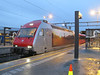 25 February 2014 :: Swiss built Class EL18, 18 2257 with its pictorial livery is at Trondheim station