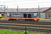 22 May 2015 :: Hector Rail 941 102, a Vossloh diesel locomotive stabled outside the roundhouse at Hallsberg