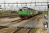 22 May 2015 :: Green Cargo Rc4, 1310 with Rd2, 1081 working a freight train at Avesta Kyrlbo