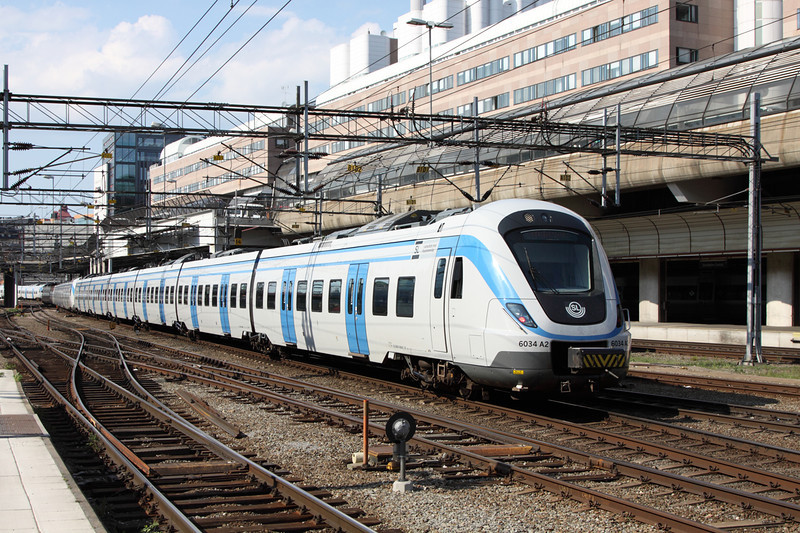 23 May 2012 :: Alstom built X 60 No. 6034 at Stockholm Central station