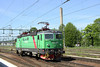 23 May 2012 :: Green liveried Rc4P operated by Green Cargo passes light through Hallsberg