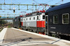 23 May 2012 :: The sleeper train from Luleå to Göteborg departs from Halsberg with a pair of Rc6 locomotives, 1397 and 1328