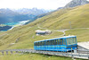 14 September 2013 :: The middle section of the journey to Piz Nair is a funicular railway from Chantarella  to Corviglia which is a gauge of 1435 mm and a maximum incline of 45.6%