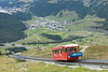 14 September 2013 :: Rising up on the Eastern side of St. Moritz is a funicular railway to Mouttas Muragl.  This system is meter guage and a maximum incline of 53.9%