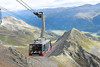 14 September 2013 :: Above St Moritz, the cable car on the final leg of the ascent to Piz Nair at a height of 10,026ft