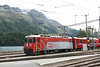 14 September 2013 :: In the siding at St. Moritz is Class Ge 4/4 II locomotive No. 633 in a Radiotelevisiun Svizra Rumantscha livery