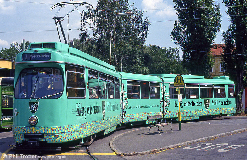 Car 503 at St. Leonhard on 13th August 1992.
