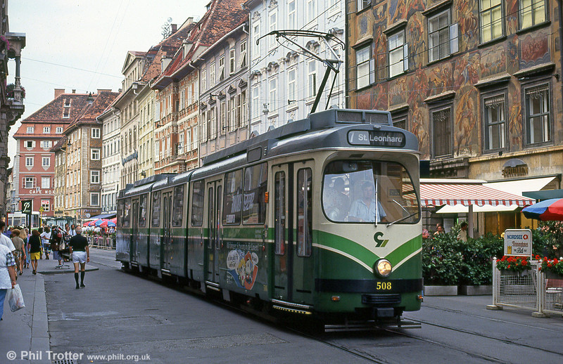 Car 508 at Hauptplatz on 13th August 1992.