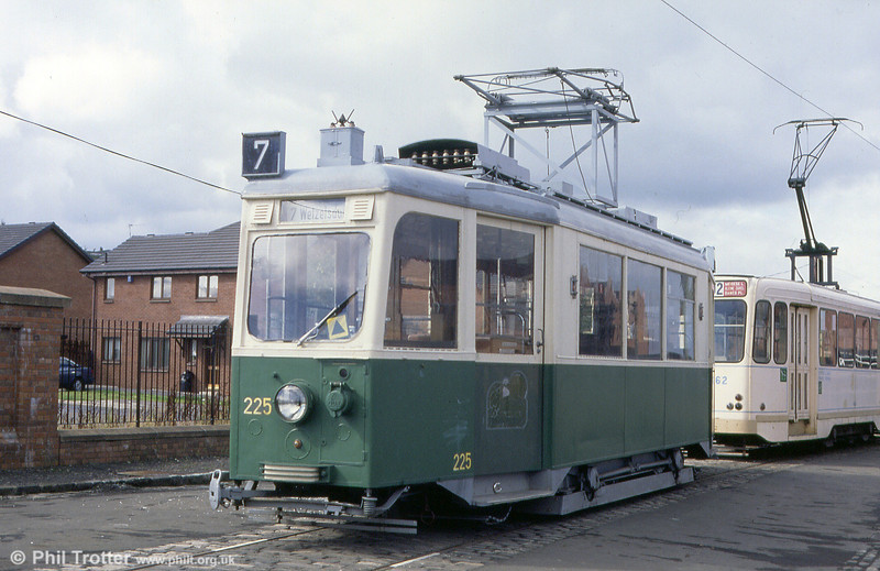 A second view of former Graz 225 at Summerlee Heritage Museum, Glasgow on 4th September 1990.