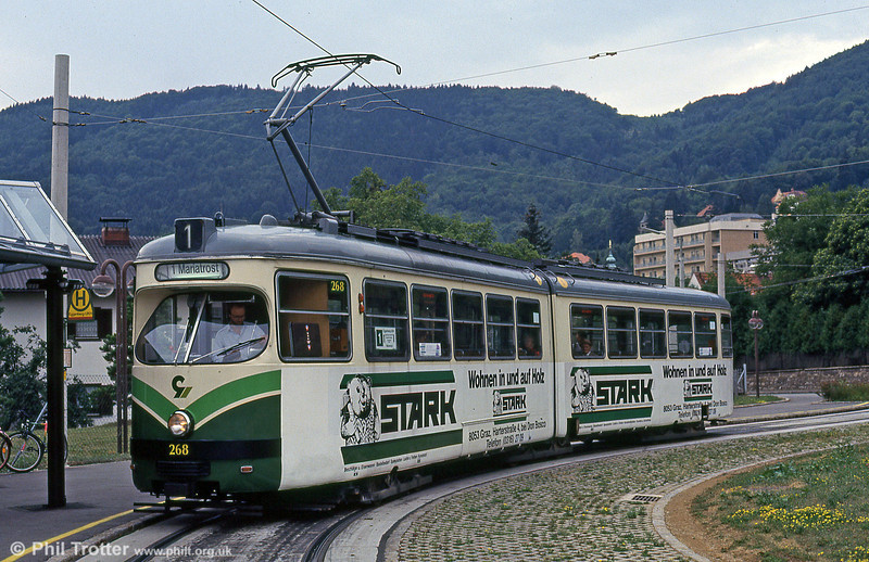 Car 268 at Eggenberg on 13th August 1992.