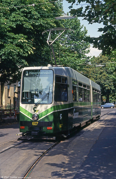 Car 607 at Krenngasse on 13th August 1992.