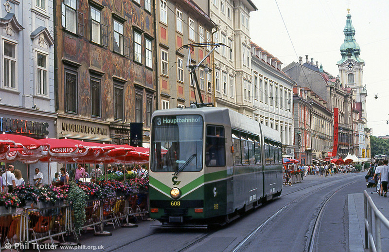 Car 608 at Hauptplatz on 13th August 1992.