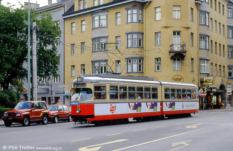 Innsbruck 77 at Salurner Straße on 10th August 1992.