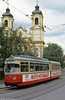 Innsbruck 36 at Pastorstrasse on 10th August 1992. (First published in Light Rail & Modern Tramway, 3/93).