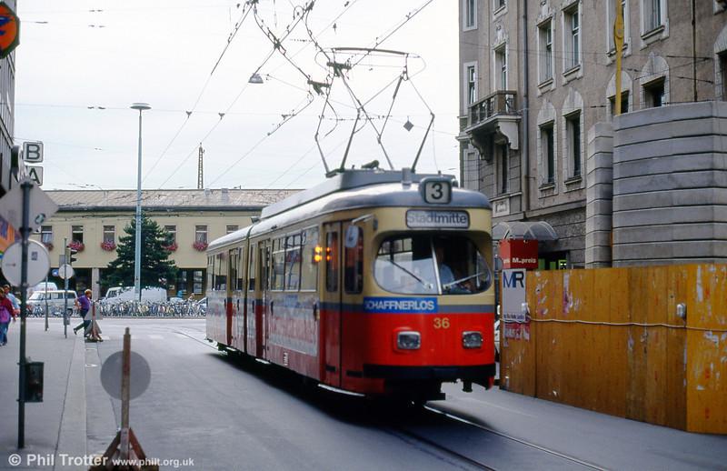 Innsbruck 36 at Salurner Straße on 10th August 1992.