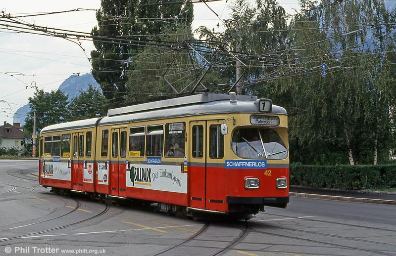 Innsbruck 42 at Pastorstrasse on 10th August 1992.