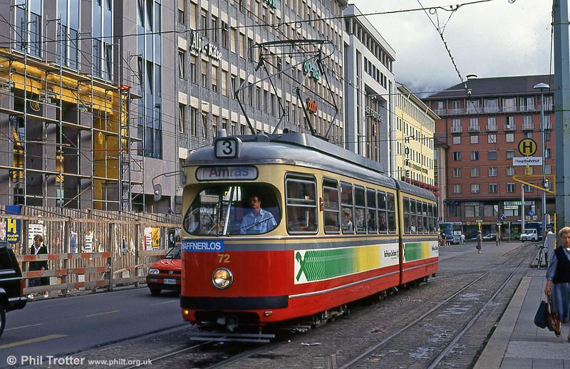 Innsbruck 72 at the Hauptbahnhof on 11th August 1992.