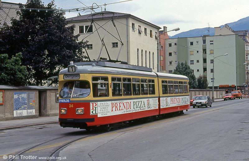 Innsbruck 34 at Hungerburgbahn on 10th August 1992.