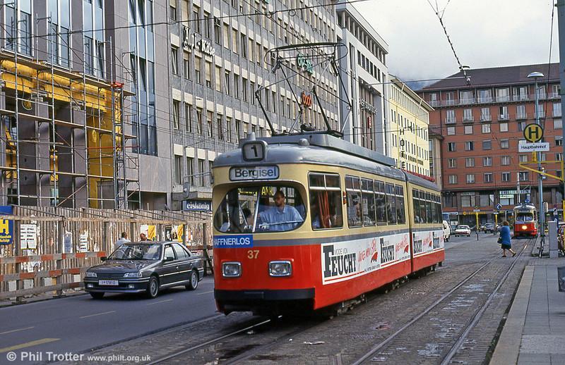 Innsbruck 37 at the Hauptbahnhof on 11th August 1992.