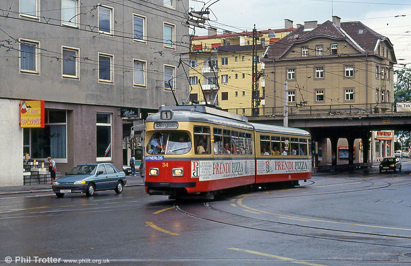 Innsbruck 34 at Museumstrasse on 10th August 1992.