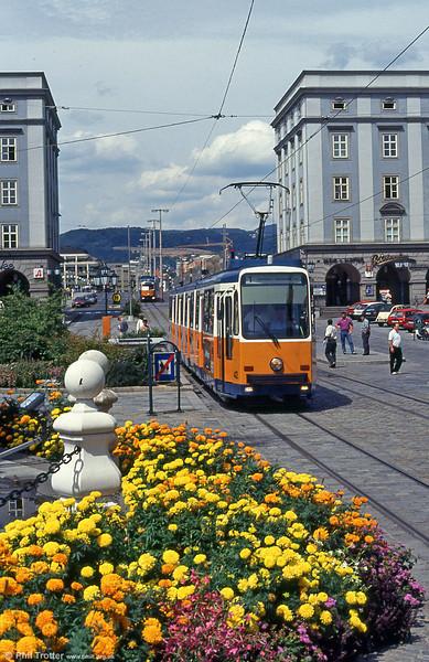 Car 42 at Hauptplatz on 12th August 1992.