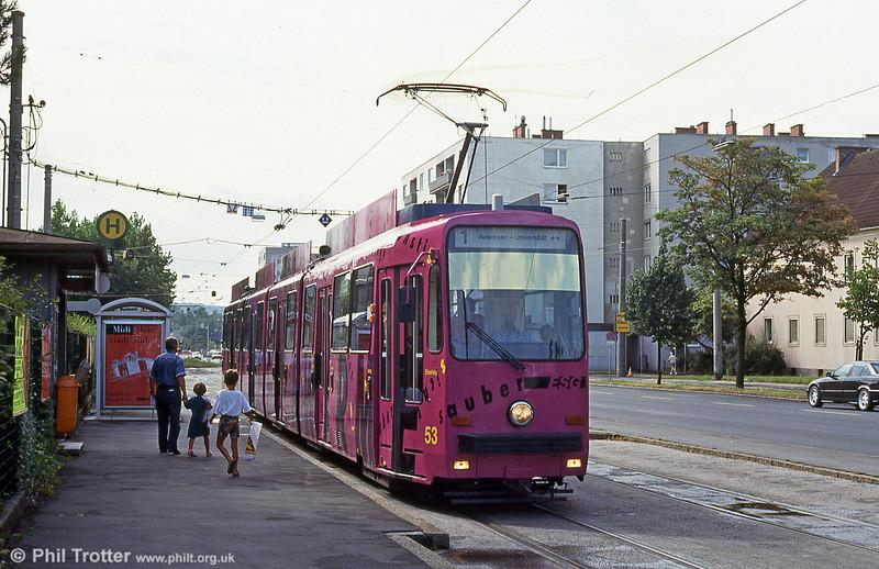 Car 53 at Kleinmunchen on 12th August 1992.