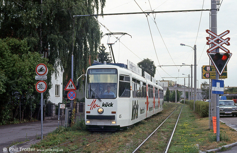 Car 45 at Amweisen on 12th August 1992.