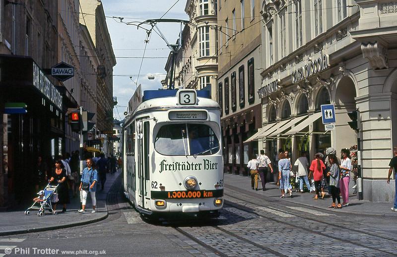 Car 62 at Landstrasse on 12th August 1992.