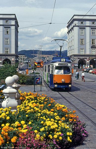 Car 83 at Hauptplatz on 12th August 1992.
