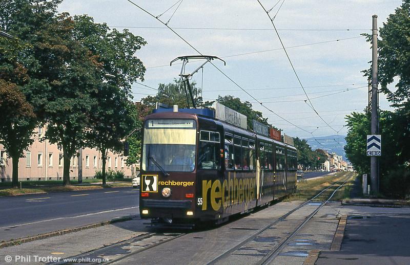 Car 55 at Kleinmunchen on 12th August 1992.