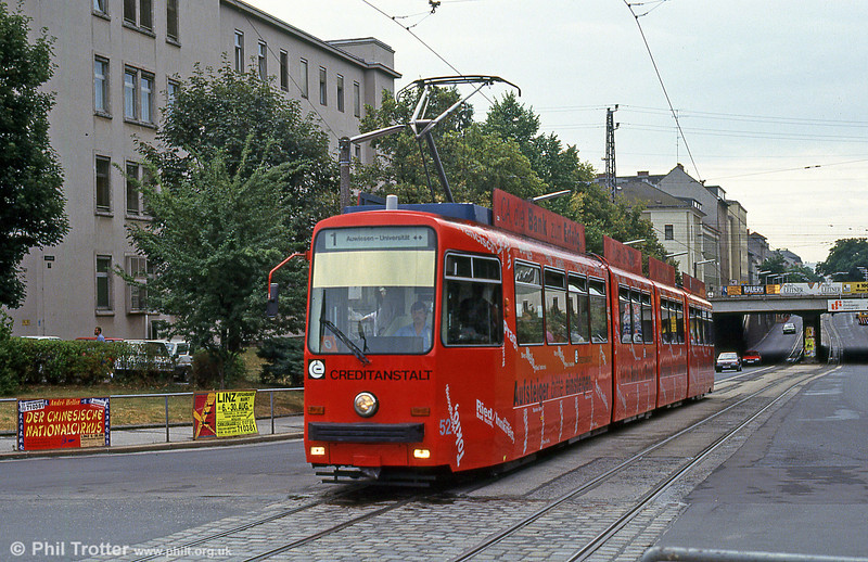 Car 52 at Blumauerplatz on 12th August 1992.