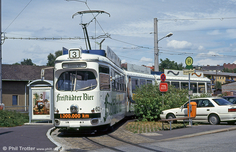Car 62 at Bergbahnhof on 12th August 1992.