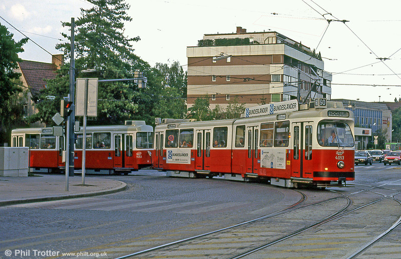 Car 4053 at Hofwiesengasse on 15th August 1992.