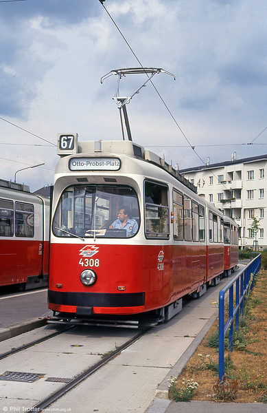Car 4308 at Otto-Probst-Platz on 15th August 1992.