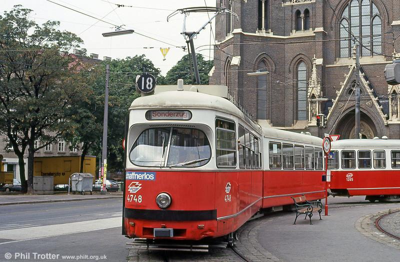 Vienna 4748 at Mariahilfer Gürtel on 14th August 1992.