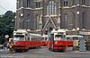 Vienna 4748 and 4618 at Mariahilfer Gürtel on 14th August 1992.