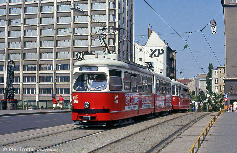 Car 4658 at  Marienbrucke on 14th August 1992.