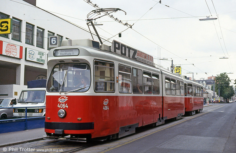 Car 4064 at Grillgasse on 15th August 1992.