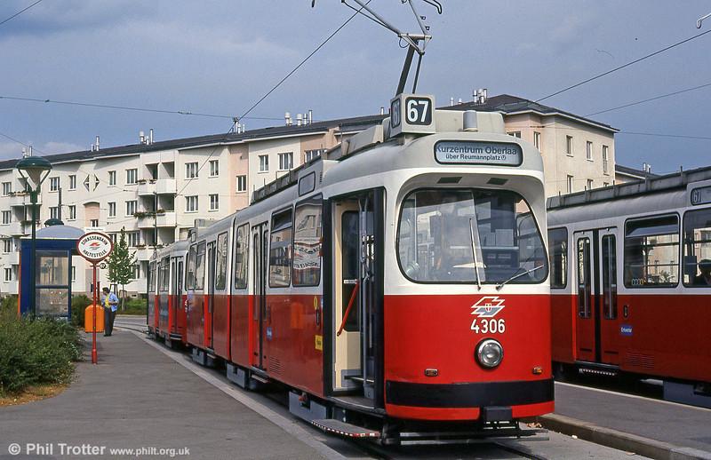 Car 4306 at Otto-Probst-Platz on 15th August 1992.