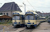 WLB cars 111 and 119 at Wolfganggasse depot on 15th August 1992.