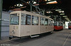 Vienna's tramway museum is thoroughly recommended, with an extensive collection housed in Erdberg depot. Here, wartime KSW car 2 of 1944 is seen in wartime condition. 15th August 1992.