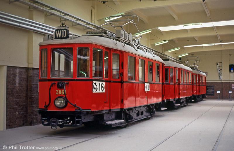 Stadtbahn car 2861 on 15th August 1992.
