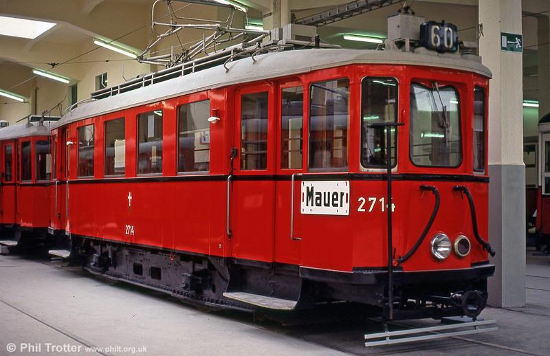 Stadtbahn car 2714 of 1925 on 15th August 1992.