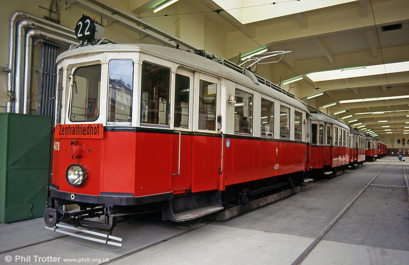 Car 4078, built by Lohner in 1928 on 15th August 1992.