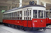 The all-American streetcar! Vienna 4208, formerly New York (TATS) 679, of 1939. Following the Battle of Vienna in early April 1945, the first five lines were able to be returned to service on 28 April. Most of the city's fleet of 4000 trams were badly damaged, 400 of them beyond repair. The task of restoring the network would not be completed until 1950; some short sections of track were never put back into operation. In 1948, Vienna acquired second hand trams of Type Z (4201-4242) under the Marshall Plan from New York.