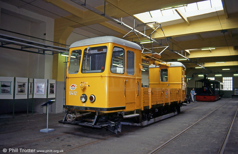 Works car 6412, built in the mid 1950s on 15th August, 1992.