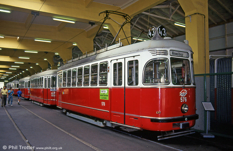 Vienna 576 in Erdberg Museum. A relative newcomer, this car was built in 1961.