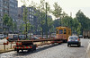 Antwerpen works car 8826 of 1902 vintage with new rails in the City Centre on 1st August 1990.