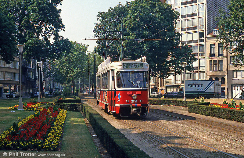 Car 2151 at Belgielei on 1st August, 1990.